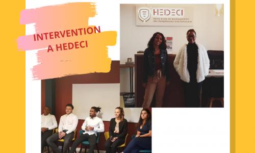 Interventions à HEDECI à la fin de l'année scolaire 2019-2020