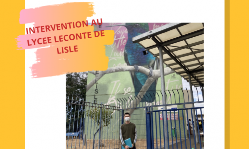 Intervention au lycée Leconte de Lisle