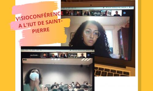 Intervention en visioconférence à l'IUT de Saint-Pierre