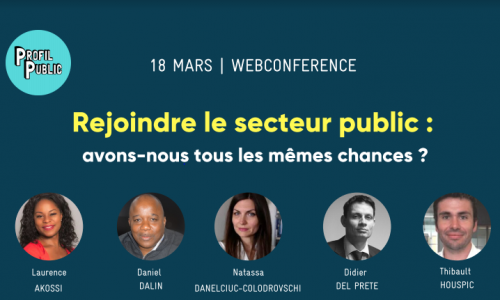 WEBCONFERENCE – Rejoindre le secteur public : avons-nous tous les mêmes chances ?